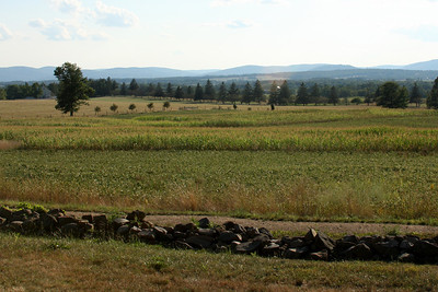 Looking out over the fields that make up Eisenhower's farm - Gettysburg, PA ... August 16, 2008 ... Photo by Rob Page III