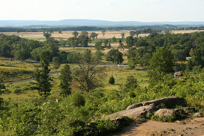 The view of the fields all around from the top of Little Round Top - Gettysburg, PA ... August 16, 2008 ... Photo by Rob Page III