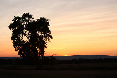 Sunset at Gettsyburg - Gettysburg, PA ... August 16, 2008 ... Photo by Rob Page III
