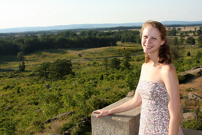 Emily at the top of Little Round Top - Gettysburg, PA ... August 16, 2008 ... Photo by Rob Page III