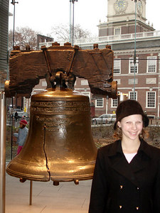 Emily and the Liberty Bell - Philadelphia, PA ... December 29, 2005 ... Photo by Rob Page III