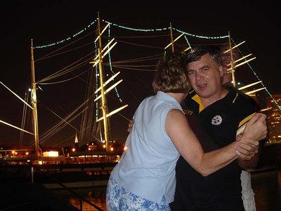 Dancing the night away - Philadelphia, PA ... September 3, 2005 ... Photo by Rob Page III