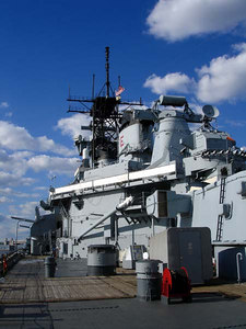 The USS New Jersey - Camden, New Jersey ... September 3, 2005 ... Photo by Rob Page III
