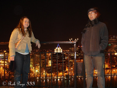 Chelsea and Dermot above Pittsburgh - Pittsburgh, PA ... January 21, 2006 ... Photo by Rob Page III