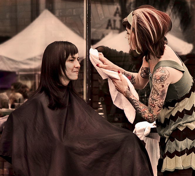 Haircut, Detour Salon, Encinitas, CA