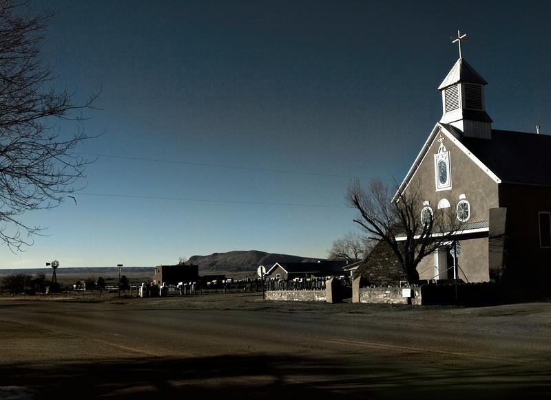 Shadows, Catholic Church, Galisteo, NM