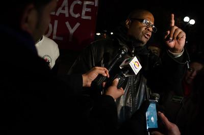 Demonstrators in Denver protest Ferguson, Missouri grand jury decision