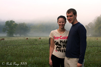 Rob and Emily at Cades Cove - Great Smoky Mountain NP, TN ... August 2, 2011
