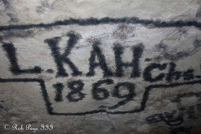 Smoke signatures on the roof of the cave - Mammoth Cave NP, KY ... August 5, 2011 ... Photo by Rob Page III
