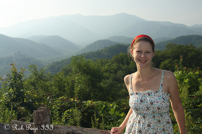 Emily enjoys the beautiful morning - Great Smoky Mountain NP, TN ... August 3, 2011 ... Photo by Emily Page