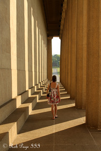 Emily strolls through the Parthenon - Nashville, TN ... August 4, 2011 ... Photo by Rob Page III