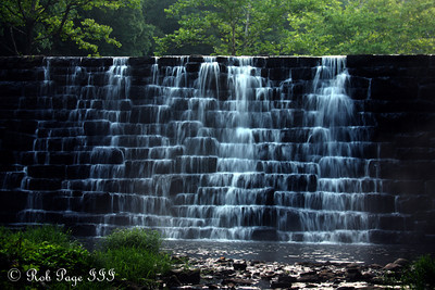 Waterfall at Otter Lake - Bedford, VA ... August 1, 2011 ... Photo by Rob Page III