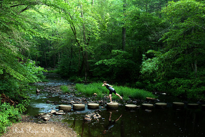 Emily crosses the river - Bedford, VA ... August 1, 2011 ... Photo by Rob Page III