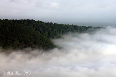 Clouds blanket the Blue Ridge Mountains - Bedford, VA ... August 1, 2011 ... Photo by Rob Page III
