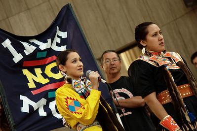Representatives of the Idle No More movement were in attendance.