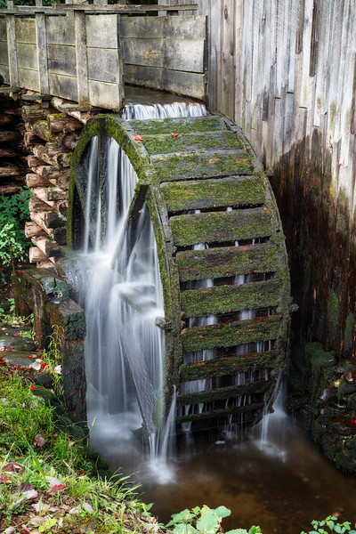Great Smoky NP, Cades Cove - Water sheel on an old mill