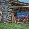 Washington on the Brazos Barn and Blue Wagon - Texas