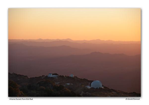 Looking South Towards Mexico From Arizona's Kitt Peak