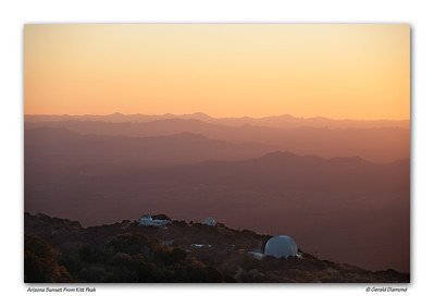 Looking South Towards Mexico From Arizona's Kitt Peak