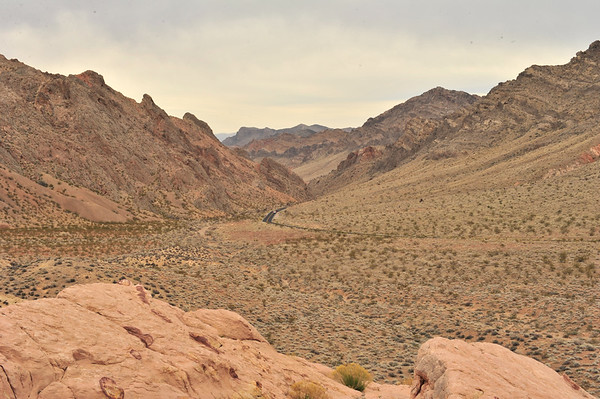 Highway from Nevada to Utah