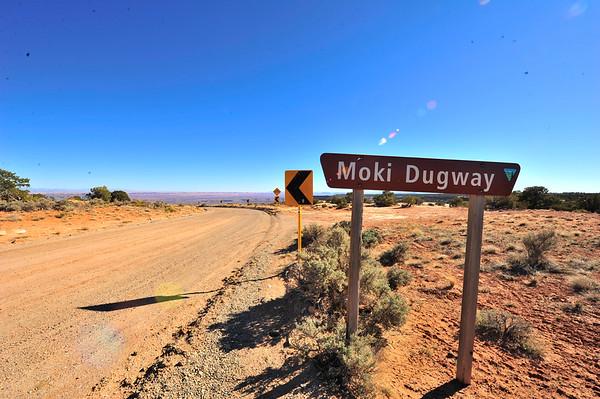 Moki Dugway Sign