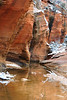 Red sandstone and water erosion