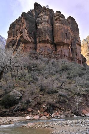 Big rock and river