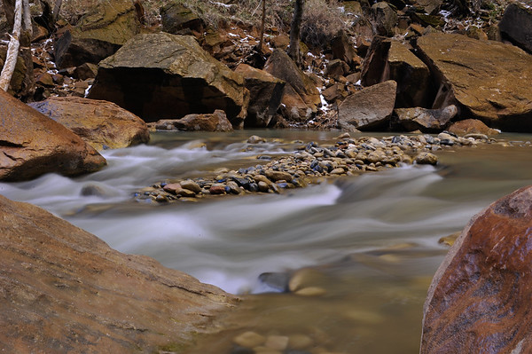 Pebbles and Boulders in river