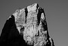 Zion, Angel's Landing - Top of summit in black and white