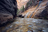 Zion, The Narrows - Mystery Falls from below