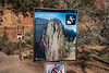 Zion, Angel's Landing - Warning sign near start of trail
