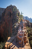Zion, Angel's Landing - Woman climbing Step of Faith, 2