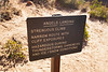 Zion, Angel's Landing - Warning sign near the start of the exposed section