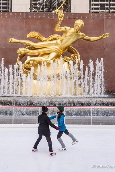 Skating at the Rink at Rockefeller Center