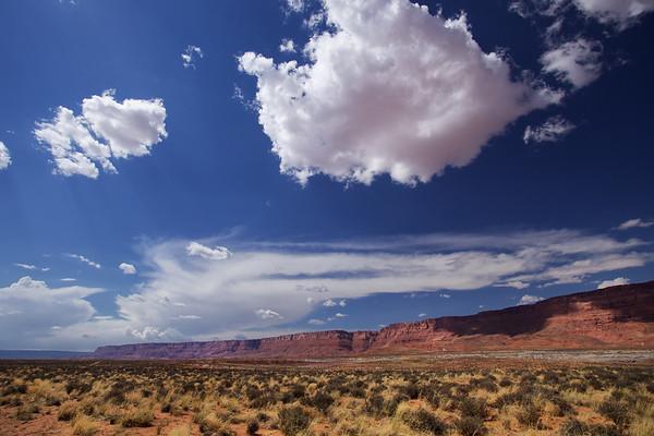 Big sky at Vermillion Cliffs