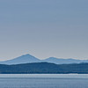 Shades of blue across Lake Champlain.