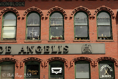 One of the building lining Main St. - Brattleboro, VT ... August 8, 2009 ... Photo by Rob Page III