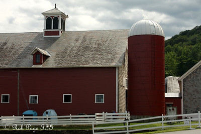 The barn at a working dairy farm - Brattleboro, VT ... August 8, 2009 ... Photo by Rob Page III