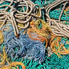 Curtis Merritt Harbor. Fishing boat ropes.