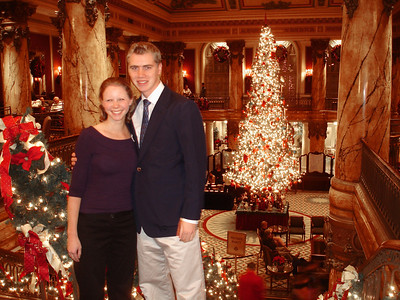 Emily and Rob at the Jefferson Hotel - Richmond, VA ... December 24, 2005 ... Photo by Rob Page III