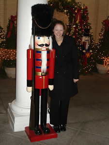 Emily and the nutcracker at the Jefferson Hotel - Richmond, VA ... December 24, 2005 ... Photo by Rob Page III