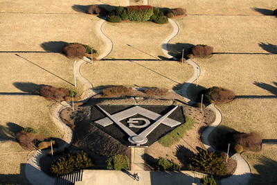 "The landscape from the top of the George Washington Masonic National Memorial.  The ""G"" is for Geometry - Alexandria, VA ... February 8, 2009 ... Photo by Rob Page III"