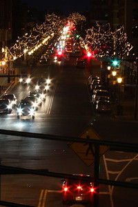 Looking down King St. from the Metro Station - Alexandria, VA ... February 8, 2009 ... Photo by Rob Page III