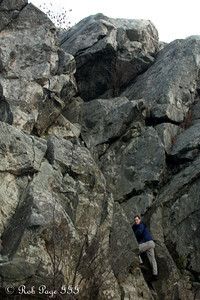 Rob climbing up the wall - Great Falls, MD ... January 8, 2012 ... Photo by Emily Page