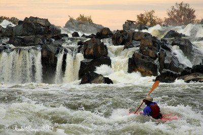 A kayaker below the falls - Great Falls Park, VA ... October 26, 2009 ... Photo by Rob Page III