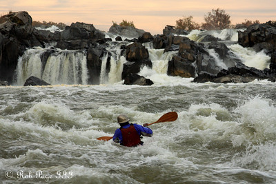 A kayaker enjoys the rapids below the Falls - Great Falls Park, VA ... October 26, 2009 ... Photo by Rob Page III