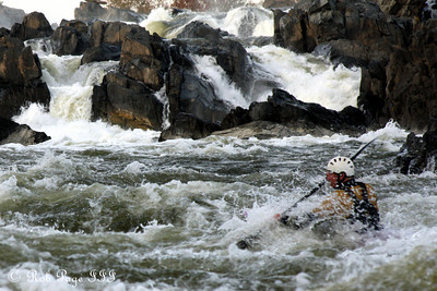 Kayaking in the water below the Falls - Great Falls Park, VA ... October 26, 2009 ... Photo by Rob Page III