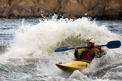 A kayaker battles the rapids on the Potomac - Great Falls Park, VA ... October 26, 2009 ... Photo by Rob Page III