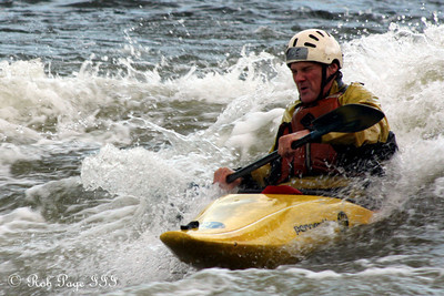 A kayaker battles the rapids - Great Falls Park, VA ... October 26, 2009 ... Photo by Rob Page III