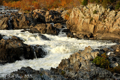 The rapids at the Falls - Great Falls Park, VA ... October 26, 2009 ... Photo by Rob Page III